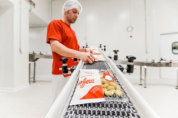 Il Pastificio Maffei, produzione