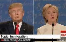 Scintille nello scontro tv Trump-Clinton a Las Vegas